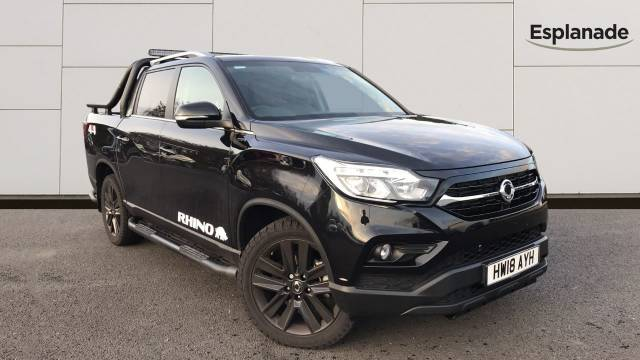 SsangYong Musso 2.2 Double Cab Pick Up Rhino 4dr Auto AWD Pick Up Diesel Black at SsangYong GB Luton