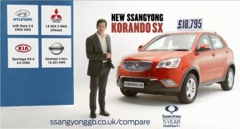 SsangYong back on TV with price-led ad. campaign for Korando SX
