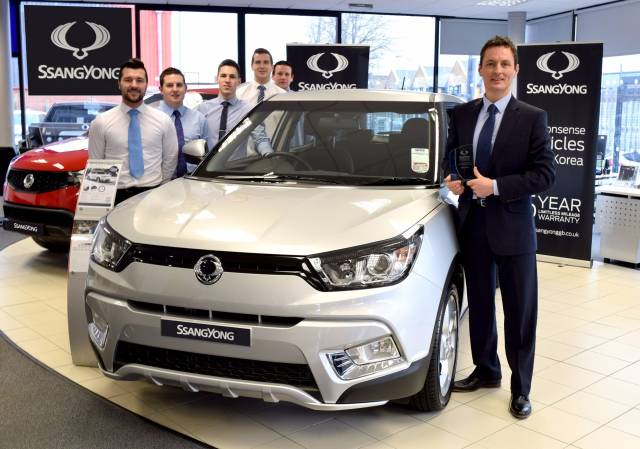 SERE SSANGYONG NAMED SSANGYONG UK 'DEALER OF THE YEAR'
