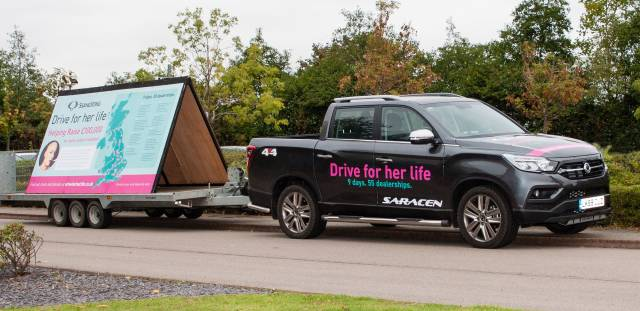 SSANGYONG DEALERS ACROSS THE UK HELP 'DRIVE FOR HER LIFE'