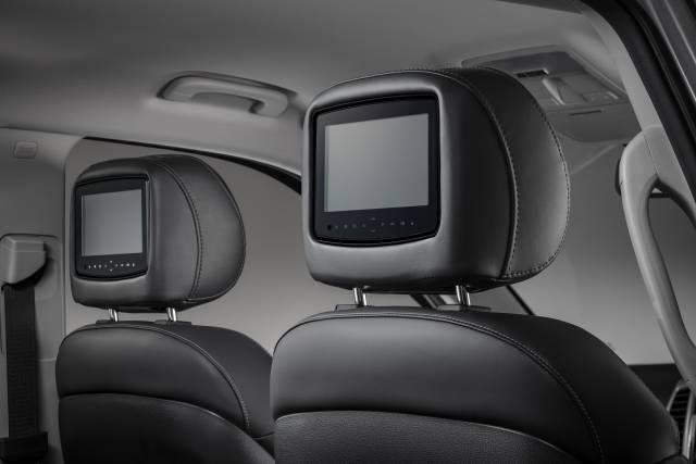 "Headrest Mounted 7"" Twin DVD Screens"