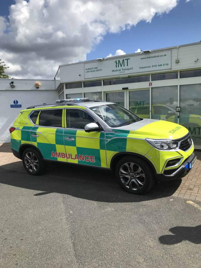 AWARD-WINNNING SSANGYONG REXTON CHOSEN TO AID VITAL NHS WORK