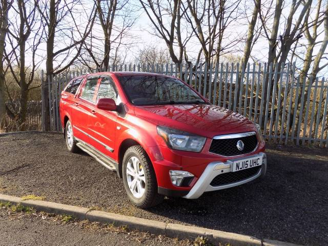 SsangYong Korando Sports 2.0 Pick Up EX 5dr Auto 4WD Pick Up Diesel Red at SsangYong GB Luton