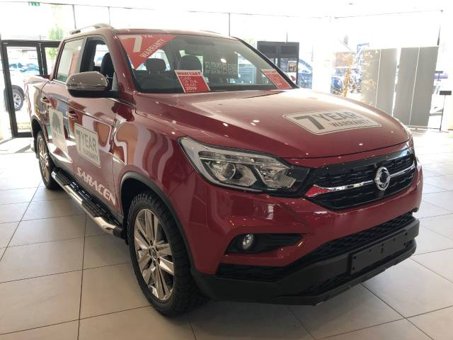 SsangYong Musso 2.2 Saracen Pick Up Diesel Red at SsangYong GB Luton