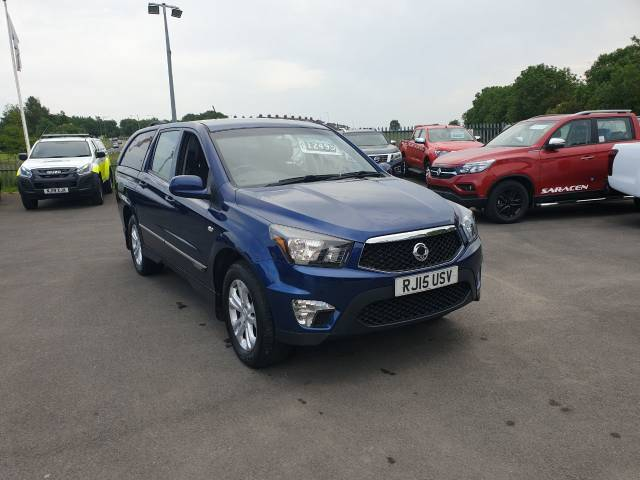 SsangYong Korando Sports 2.0 Pick Up EX 5dr Auto 4WD Pick Up Diesel Blue at SsangYong GB Luton